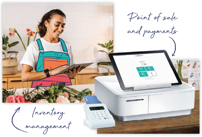 Saledock Point of Sale on desktop, tablet and mobile with SumUp integrated payments